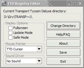 TTD Registry Editor Screenshot